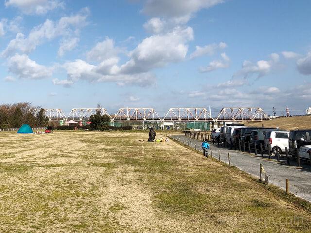 淀川河川公園(赤川地区)のBBQスペース