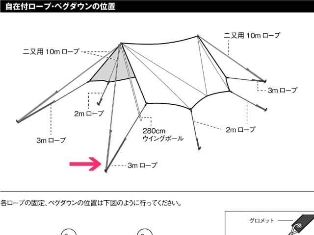 TAKIBIタープオクタの取扱説明書