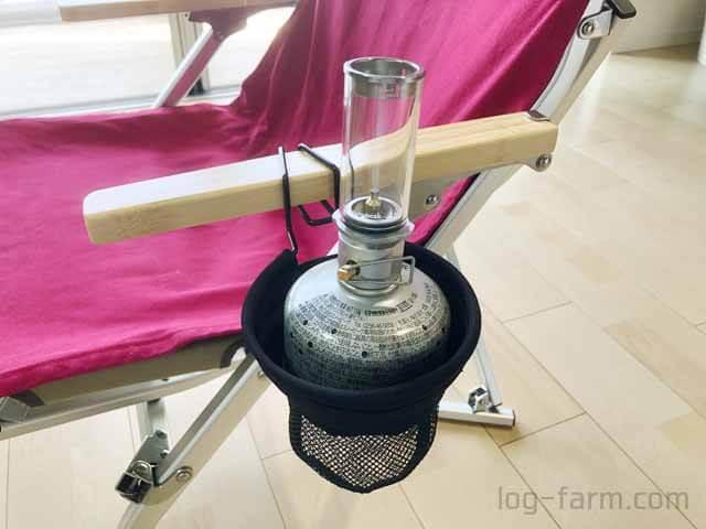 リトルランプノクターンをローチェアカップホルダーに挿入