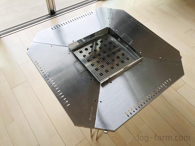 ジカロテーブルの剛炎モードにファイアグリルをセット