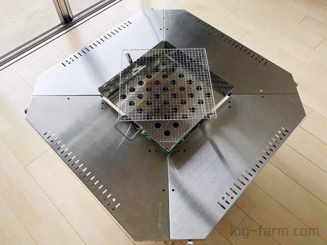 ジカロテーブル剛炎モード+ファイアグリル+アルティメットコンテナL