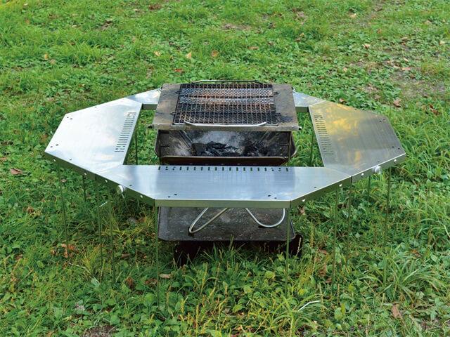 ジカロテーブルの焚火台モード
