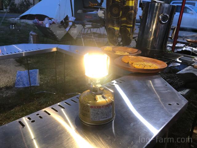 朽木オートキャンプ場で光るランタン天オート