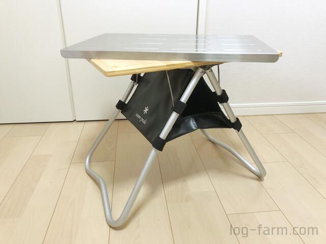スノーピークのMyテーブル竹・Myテーブルハウス・Myテーブル ステンレストップ