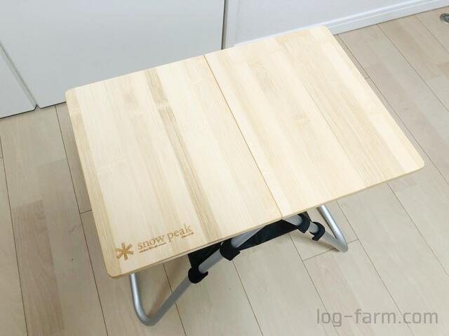 スノーピークのMyテーブル竹