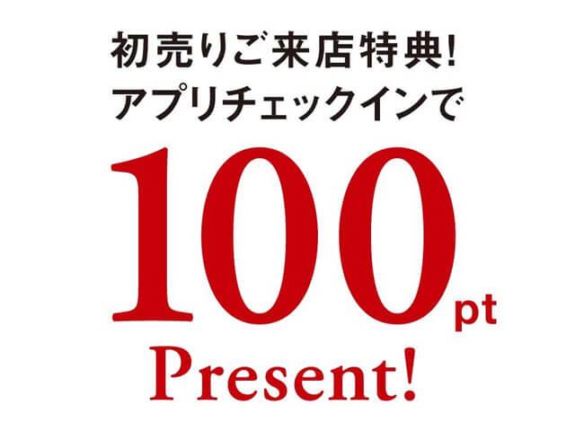 スノーピーク100ポイントプレゼント