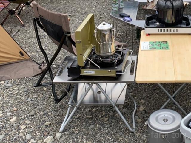 TAKIBI Myテーブルとステンレストレー 1ユニット