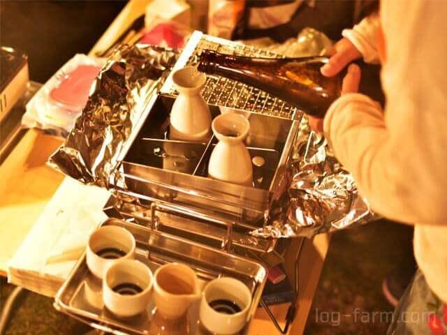 ユニセラ熱燗あぶり台で日本酒