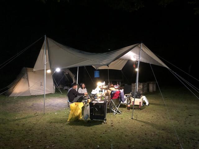 TAKIBIタープオクタでキャンプ