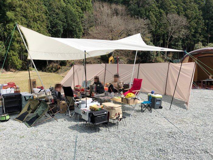 白川渡オートキャンプ場でキャンプ