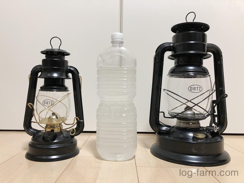 デイツ90をデイツ78や2Lペットボトルと比較