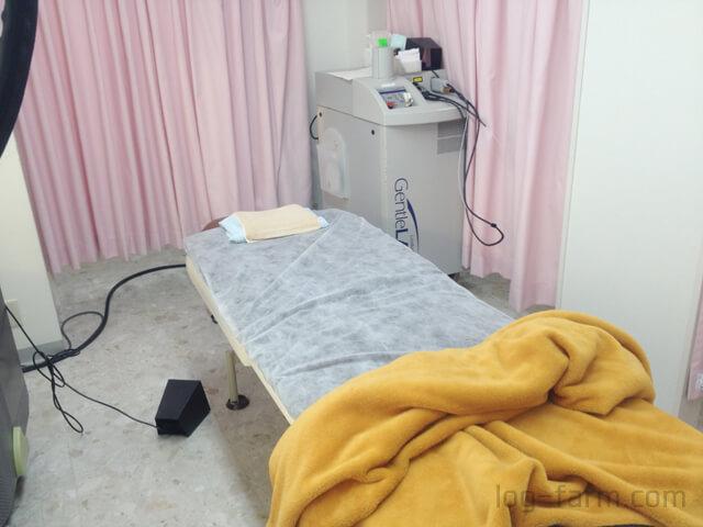 メディエススキンクリニックの施術室