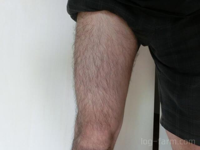 レッグトリマーで太もものムダ毛を除毛する前