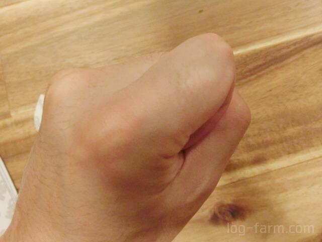 メンズスムースアウェイで除毛された指毛
