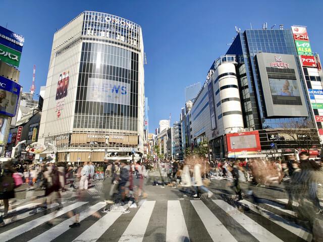 渋谷の路上
