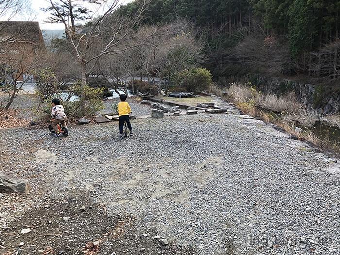 荒滝キャンプ場の北側のサイト