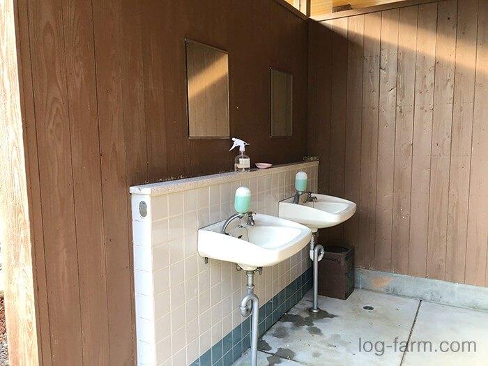 荒滝キャンプ場のトイレの洗面台