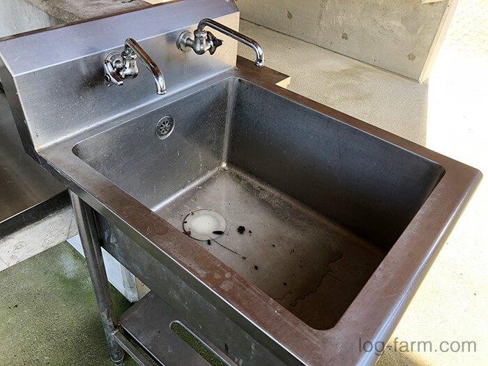 カントリーパーク大川の炊事場のシンク