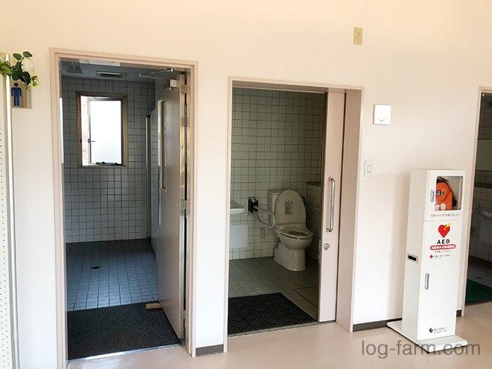 カントリーパーク大川の管理棟内のトイレ