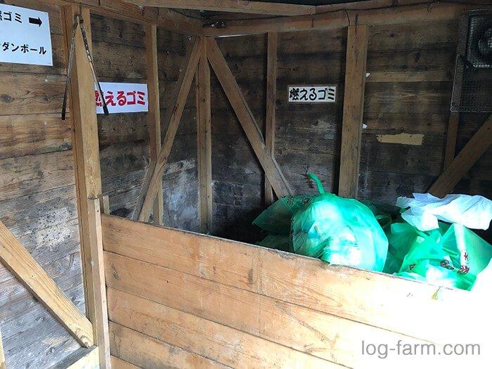ゴミ捨て場(ゴミステーション)の屋内
