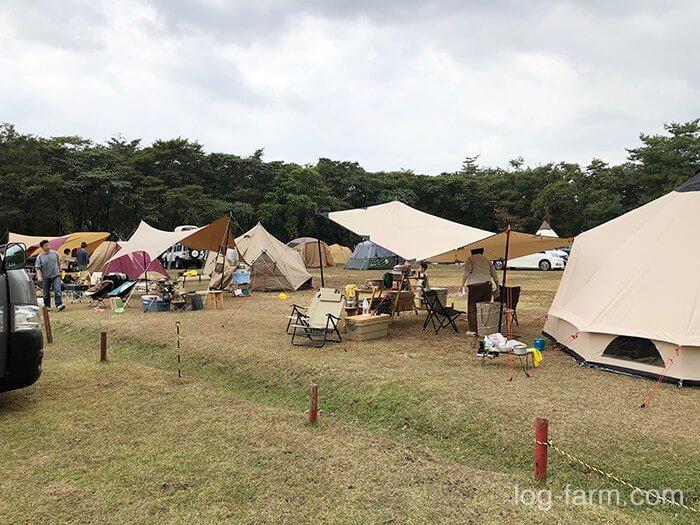 グリム冒険の森キャンプ場のフリーサイト