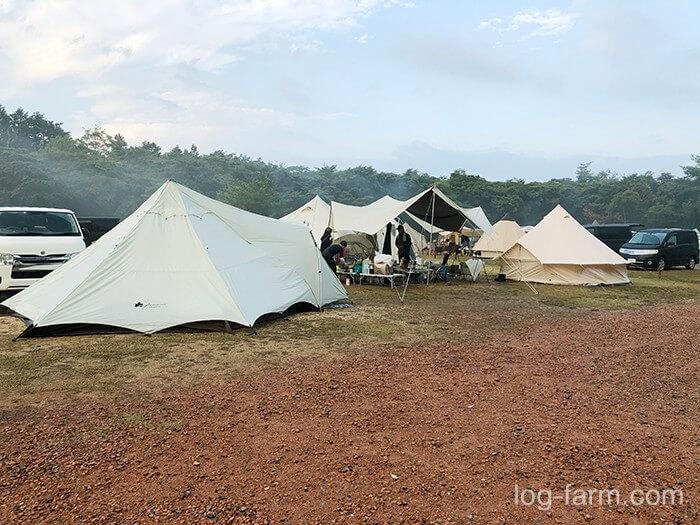 11月キャンプの様子(フリーサイト)