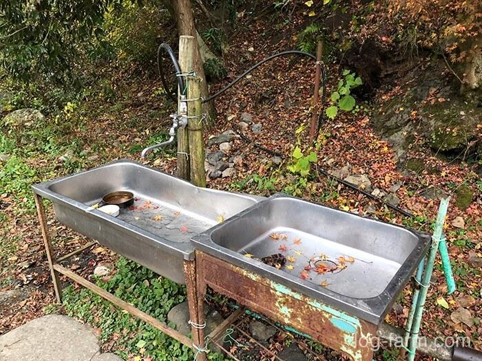 黄和田キャンプ場の炊事場