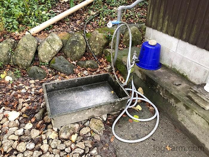 黄和田キャンプ場の手洗い場