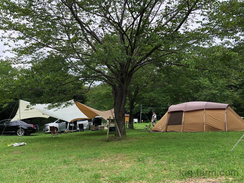 牧野キャンプ場でキャンプ
