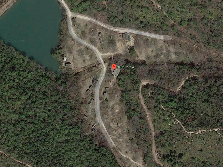 【航空写真】牧野キャンプ場