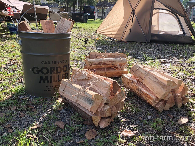 向平キャンプ村の薪