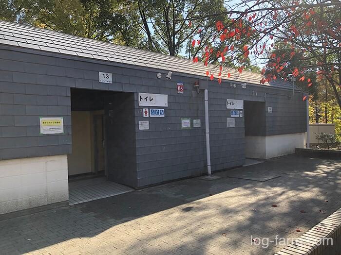 鶴見緑地キャンプ場のトイレ