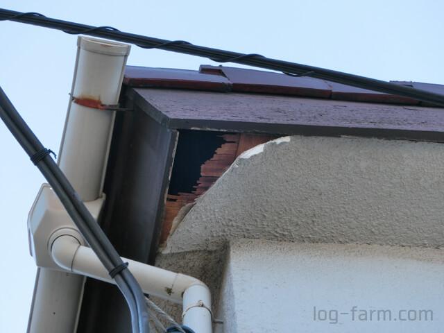 屋根の軒天