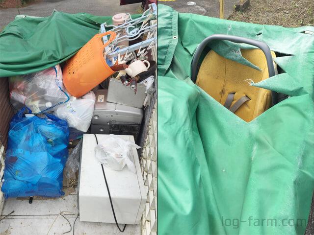 大量の粗大ゴミ