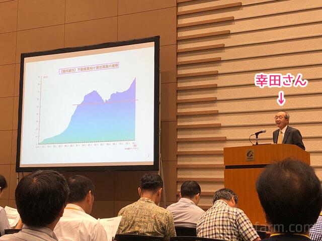 不動産市況アナリストの幸田さんによるセミナー