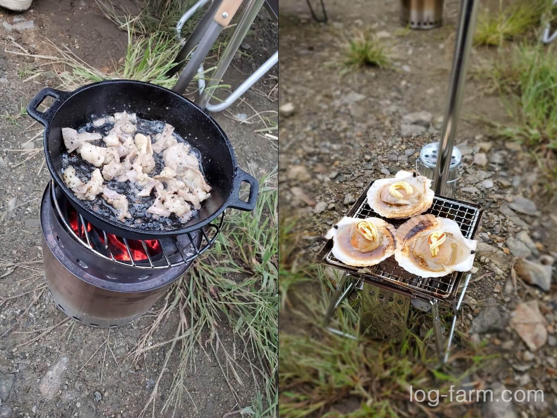 ソログルキャンプで作ったキャンプ飯