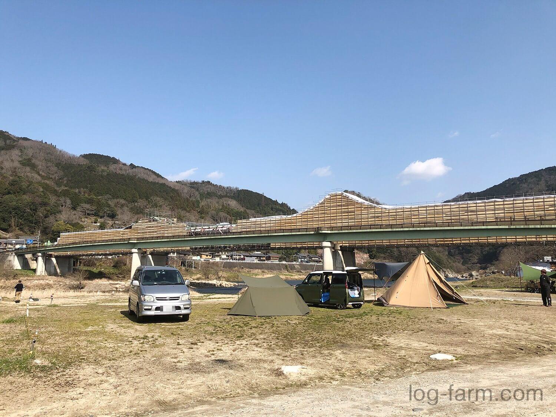 テント設営場所