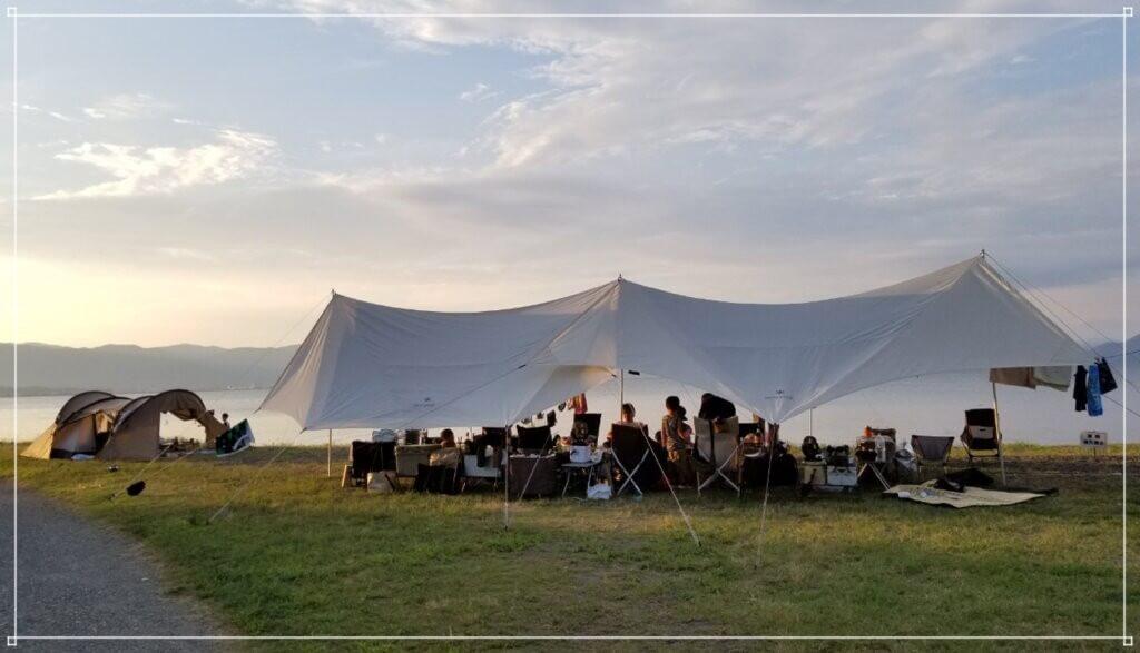 六ツ矢崎浜オートキャンプ場で琵琶湖キャンプ!
