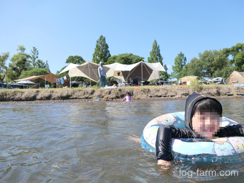 琵琶湖で泳げる