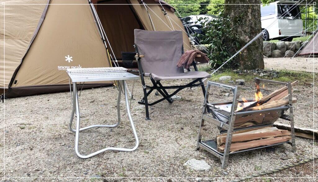 深山キャンプ場で初キャンプ!焚火台SR開封の儀
