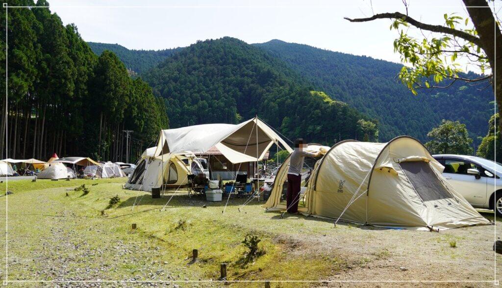 白川渡オートキャンプ場で2家族キャンプ