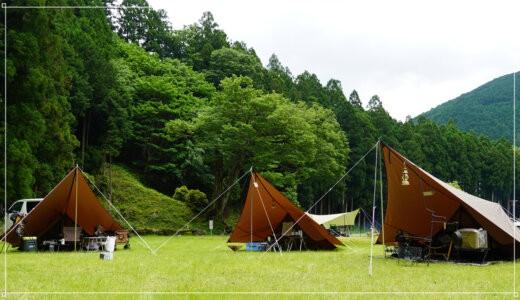 【出撃記録】白川渡オートキャンプ場でソログル!ヘキサイーズ3張り&マウンコム虎がカッコいい!