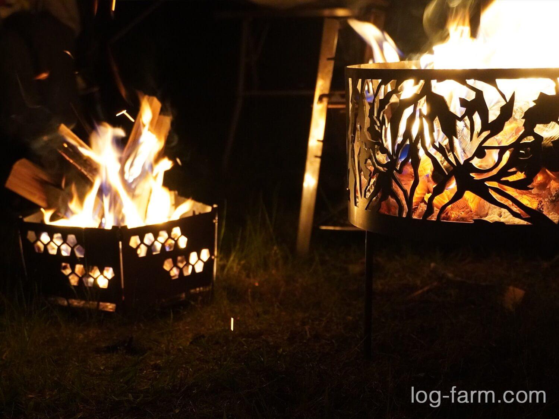 マウンコム虎と灯篭で焚き火