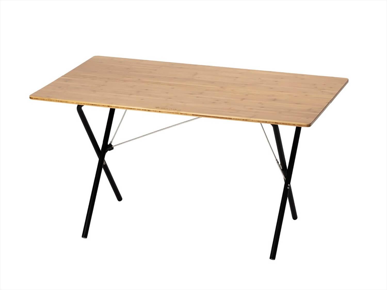 ワンアクションテーブルロング竹 ブラック